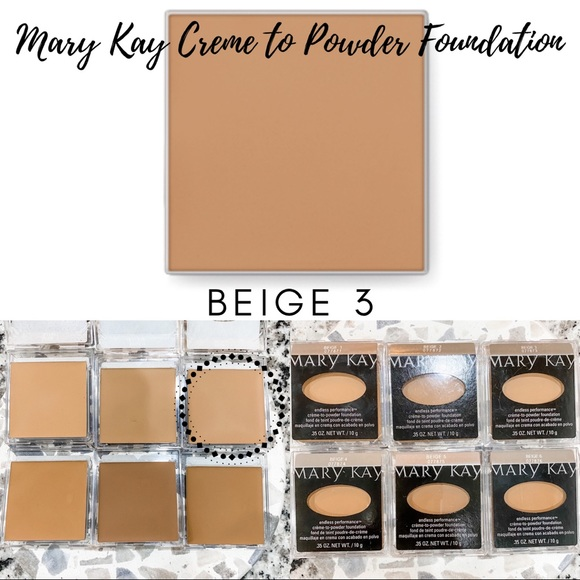 Mary Kay Creme to Powder Foundation In Beige 3